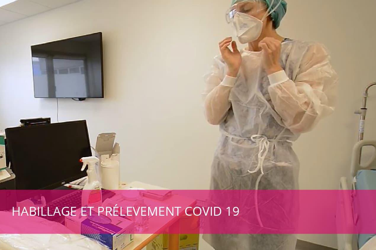 Vidéo : procédures d'habillement et de prélèvement Covid-19